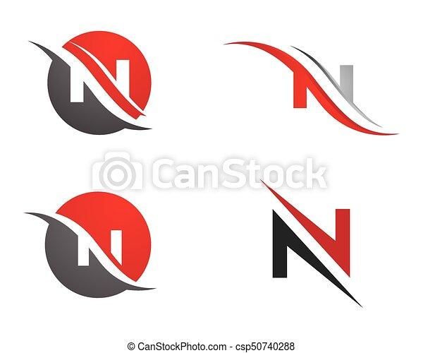 N letter logo template vector icon n letter logo template csp50740288 maxwellsz