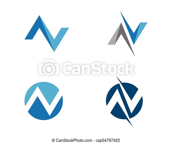 N letter logo template vector icon illustration design n letter logo template vector icon maxwellsz
