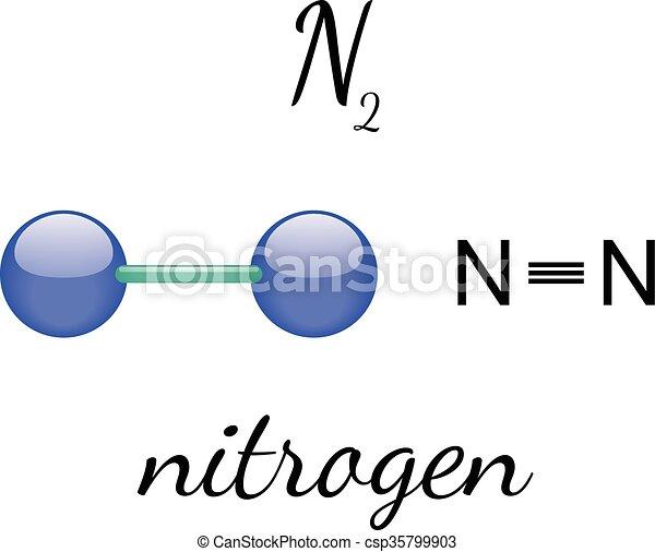 n2 nitrogen molecule n2 nitrogen 3d molecule isolated on