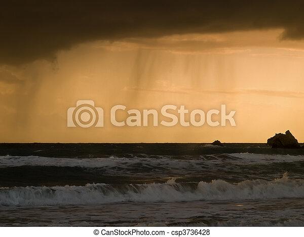 na, deszcz, horyzont - csp3736428
