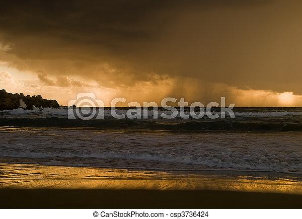 na, deszcz, horyzont - csp3736424