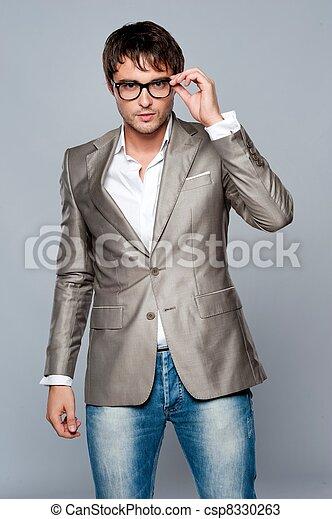 na moda, jovem, man., bonito - csp8330263