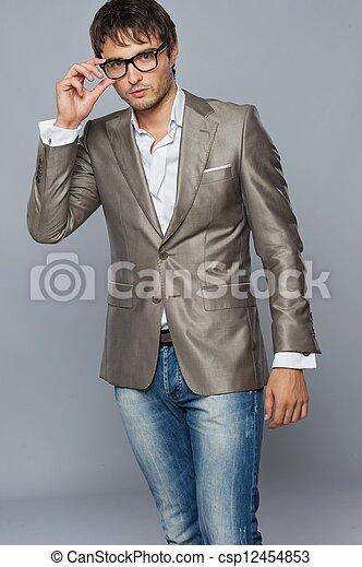 na moda, jovem, man., bonito - csp12454853