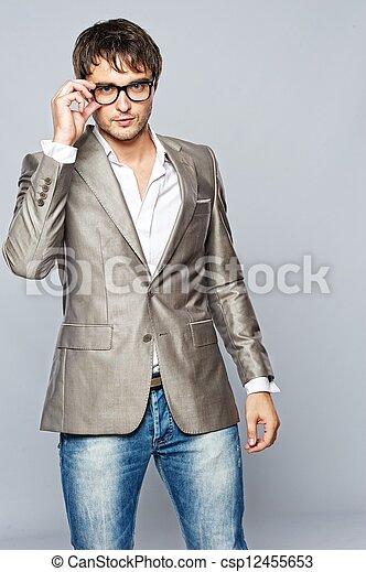na moda, jovem, man., bonito - csp12455653