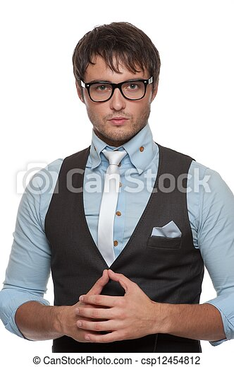 na moda, jovem, man., bonito - csp12454812