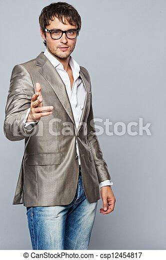 na moda, jovem, man., bonito - csp12454817
