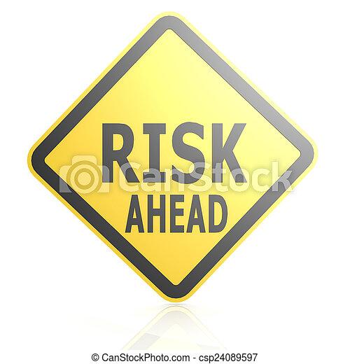 na przodzie, ryzyko, droga znaczą - csp24089597
