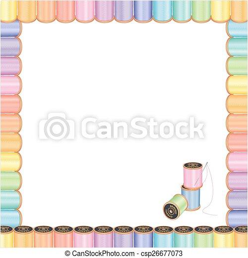 naald, frame, naaiwerk, draden, poster - csp26677073