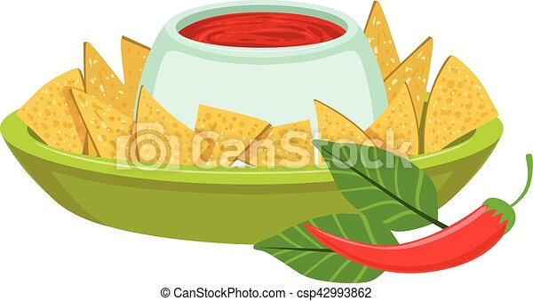 nachos with spicy dip traditional mexican cuisine dish food clip rh canstockphoto com