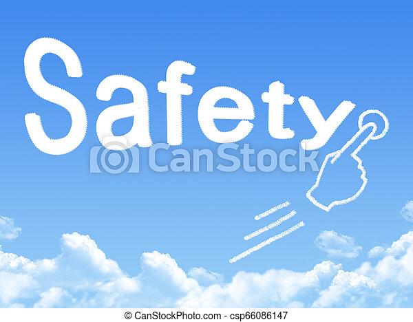 nachricht, sicherheit, form, wolke - csp66086147
