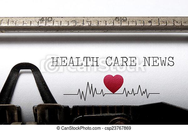 nachrichten, gesundheitspflege - csp23767869