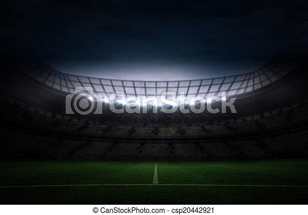 Nacht Fussball Himmelsgewolbe Gross Stadion Unter
