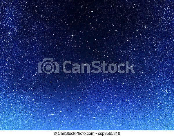 nacht himmel, oder, sternen, raum - csp3565318