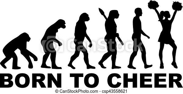 Evolución de porristas nacida para animar - csp43558621