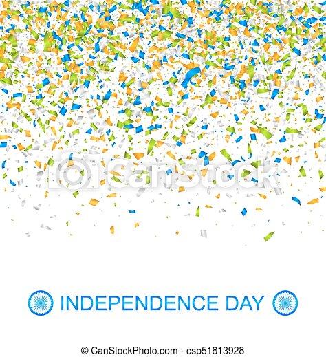 Nacional, colores, indio, confeti, bandera, día, independencia ...
