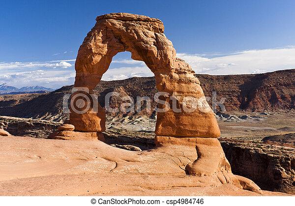 nacional, utah, parque, arcos, arco delicado - csp4984746