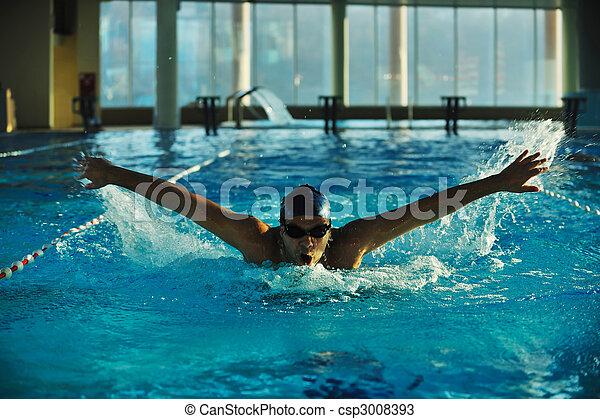 Nadador - csp3008393