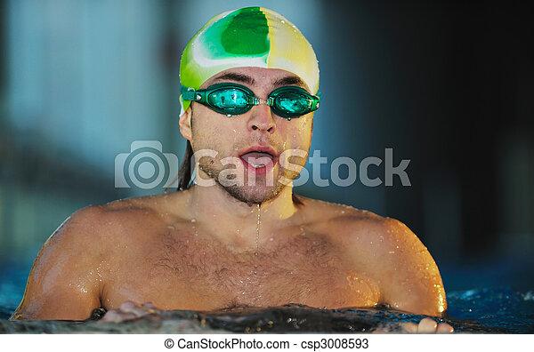 Nadador - csp3008593