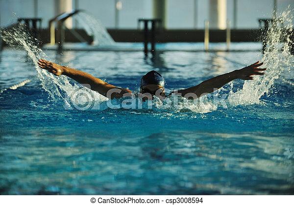 Nadador - csp3008594