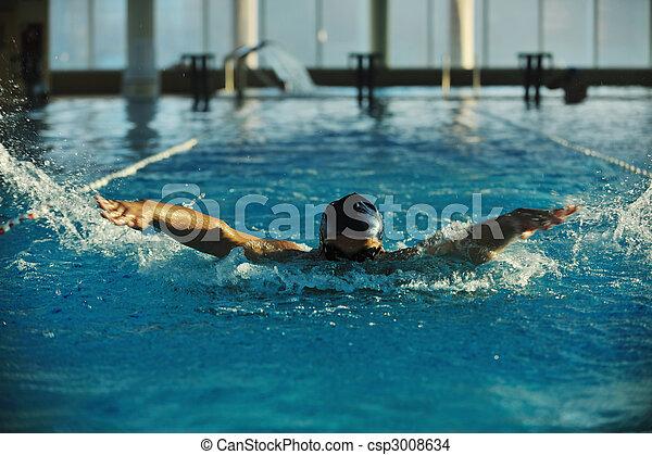 Nadador - csp3008634