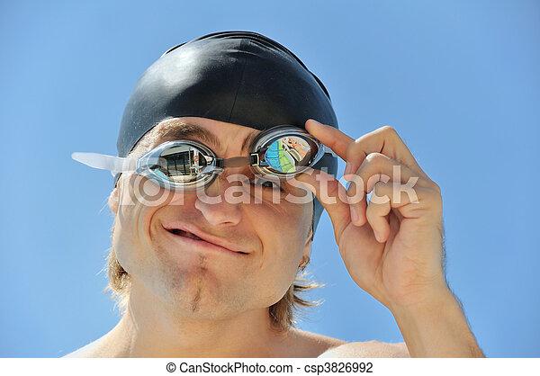 Nadador - csp3826992