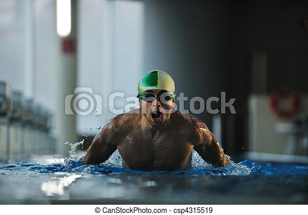 Nadador - csp4315519