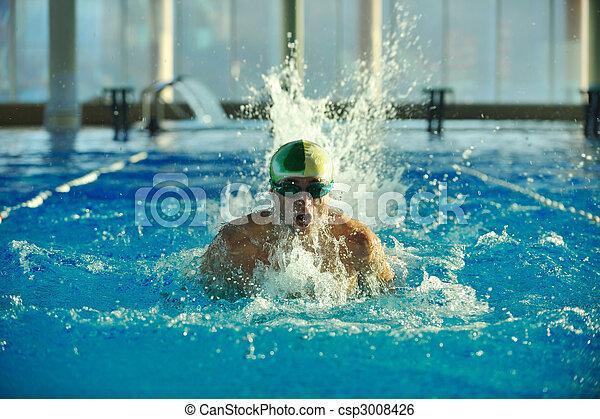 Nadador - csp3008426