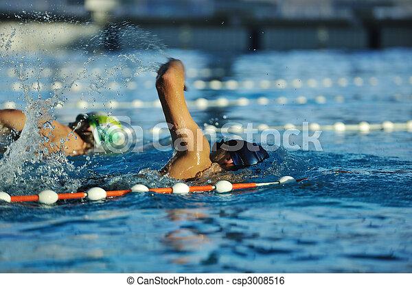 Nadador - csp3008516