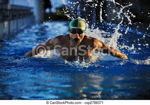 Nadador - csp2786371