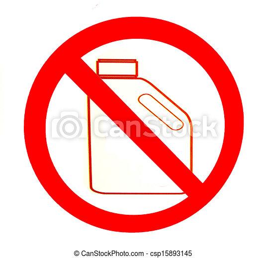 nafta, nie, odizolowany, znak, tło, biały - csp15893145