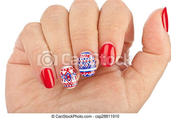 nagel muster finger csp28811910 - Muster Fingernagel