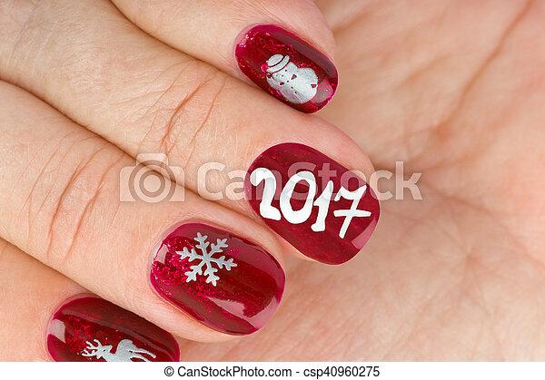 nagel muster finger weihnachten csp40960275 - Nagel Muster