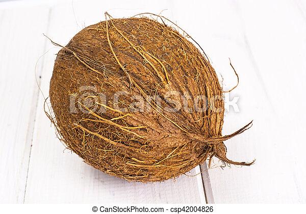 nagy, kókuszdió, érett, barna - csp42004826