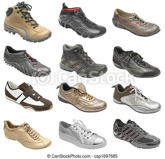 nagy, sport cipő, gyűjtés - csp1697685
