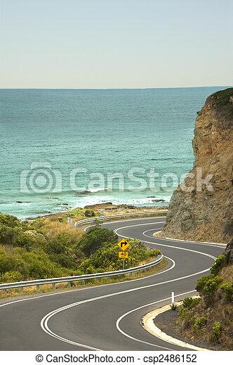 nagy, szórakozási, -, autózás, óceán, australia\'s, út - csp2486152