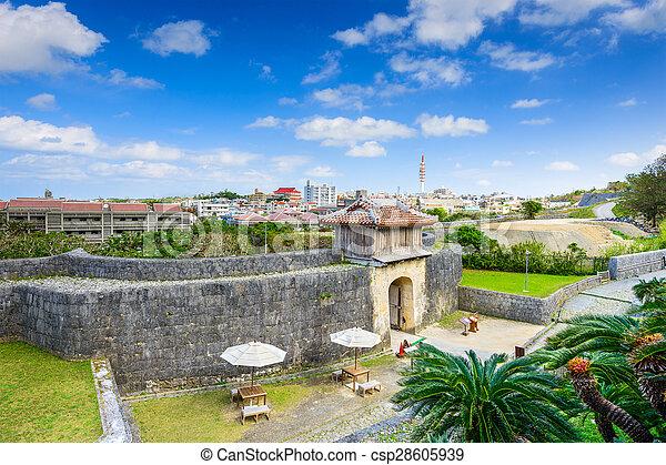 Naha Castle in Okinawa - csp28605939