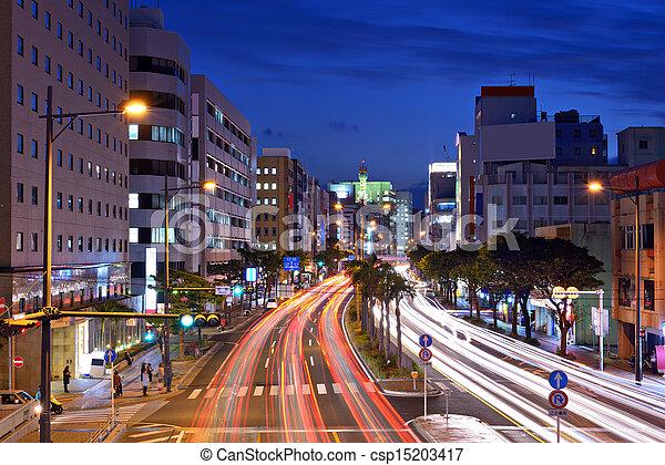 Naha, Okinawa Cityscape - csp15203417