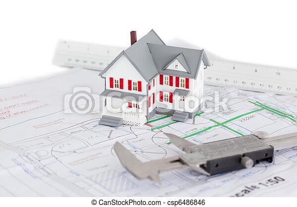 Lovely Nahaufnahme, Spielen Haus, Schieber, Plan, Modell   Csp6486846
