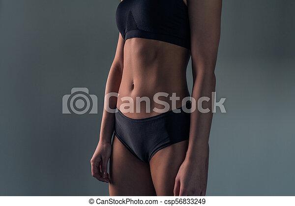 newest bc251 c782f nahaufnahme, sportliche , figur, badeanzug, schwarze frau, porträt, sexy