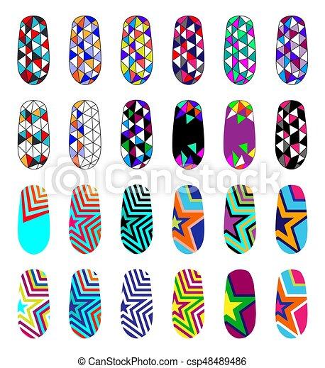 Nail Art Clipart Vector Graphics 6780 Nail Art Eps Clip Art Vector