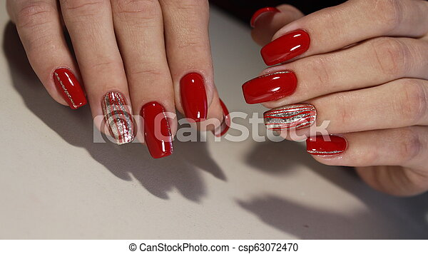 Nail designs red colors