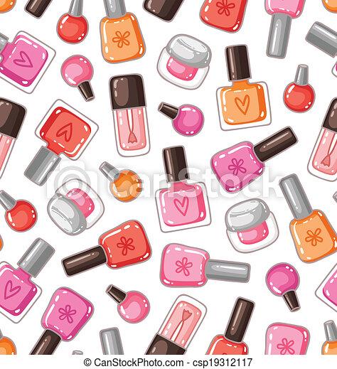 Nail polish bottles seamless pattern - csp19312117