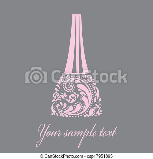 Nail polish made from the leaf pattern. Vector EPS10 illustration. - csp17951895