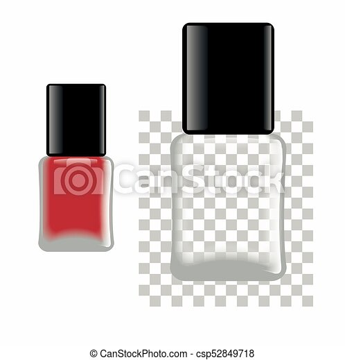 nail polish red and empty bottle template for any color of nail