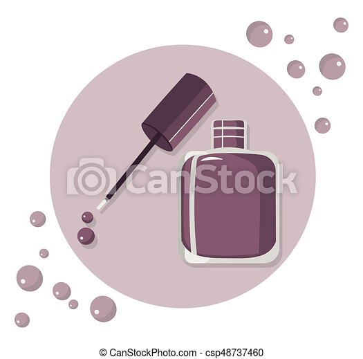 Nail polish vector set icon template colorful package label. Nail ...
