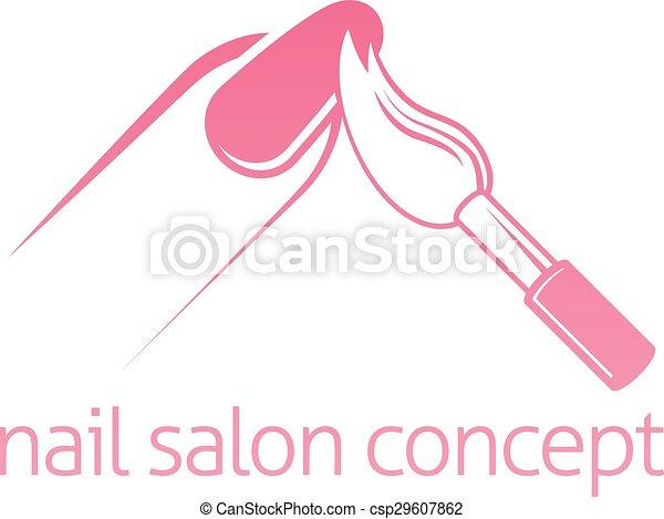 Nail Salon Concept Technician Bar Or Manicurist