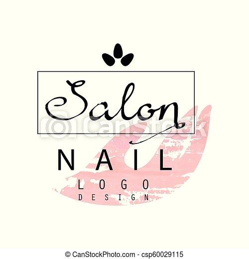 nail salon logo design template for nail bar beauty studio