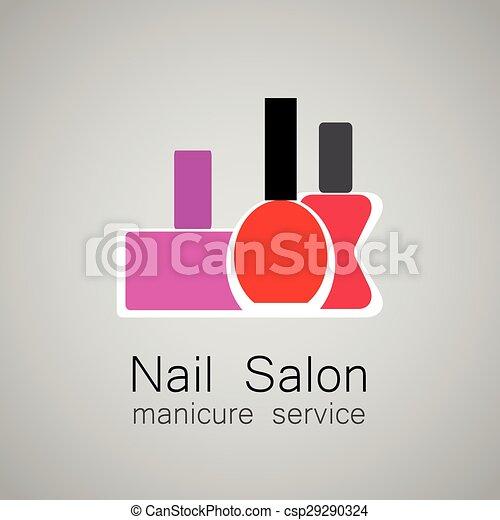 Nail Salon Logo Polish