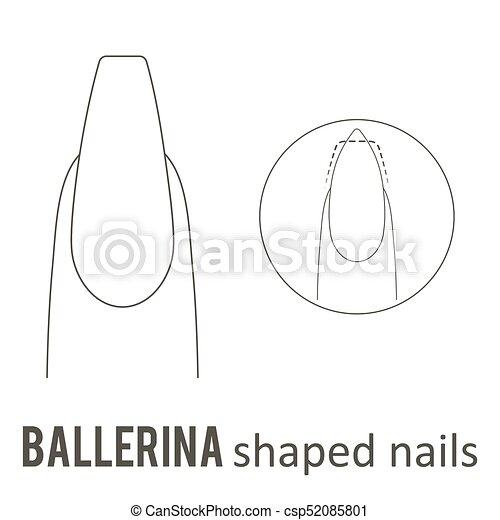 Nail Shape Ballerina Nail Manicure How To Make Ballerina Nail