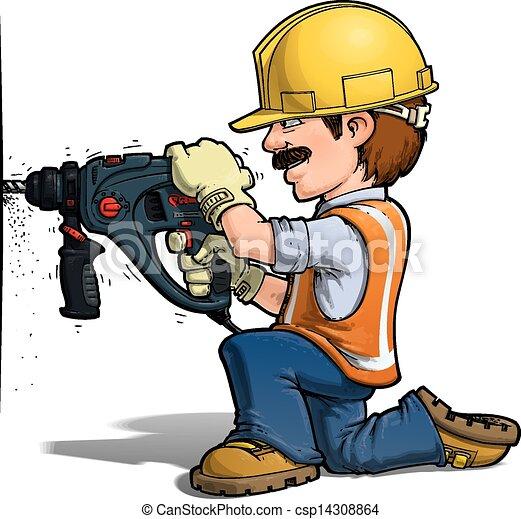 nailling, 工人, 建设, - - csp14308864